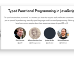 Typed Functional Programming in JavaScript
