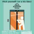 Elevator Pitch and Professional Fair: October 6, 5:30pm