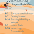 Workshop Wednesdays: in our office, 3pm every Wed!