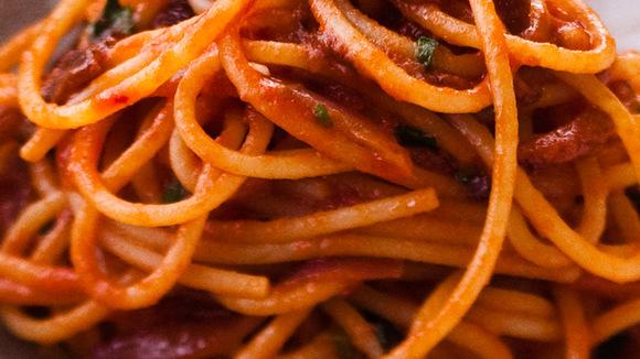 Spaghetti all´Amatriciana | Rome - Italië met Dolcevia.com