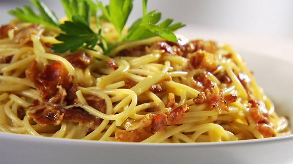 Recept voor Spaghetti alla carbonara | Lazio - Italië met Dolcevia.com
