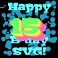 Happy 15th Birthday SVG! by Tobi Reif