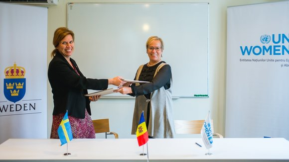 The Government of Sweden and UN Women signed a new agreement to promote Gender Equality and Women Human Rights in Moldova