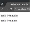 Adding Elm to a Rails application
