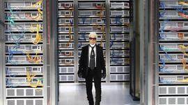 Lagerfeld Makes Paris Fashion Week Runway a Data Center