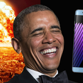 Obama pokes fun at Samsung's fire-bursting Galaxy Note 7