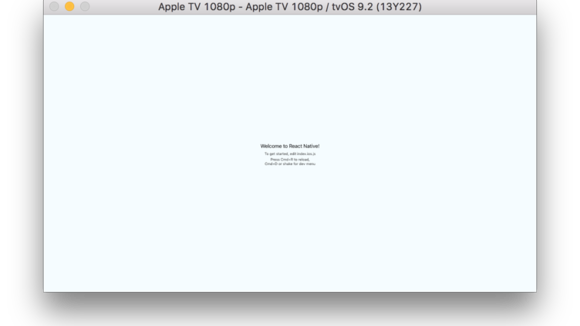 React Native & Apple TV today