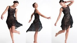 This Dress Is Made From 3-D Printed Plastic, But Flows Like Fabric | WIRED