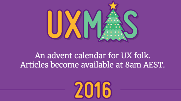UXmas | An advent calendar for UX folk