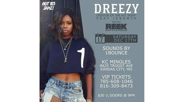 DREEZY x REEK RAFFLEPONE LIVE @ KC Mingles Nite Club!