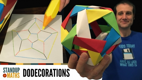 How to make an edge-coloured origami dodecahedron - MathsLinks