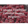 5 Lessons from Failed Customer Success Programs