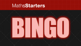 Bingo - MathsStarters