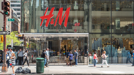 H&M Monthly Sales Lagging Forecasts