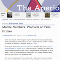 Mobile Numbers: Products of Twin Primes