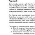 An Agile Stock Portfolio | Michael de la Maza