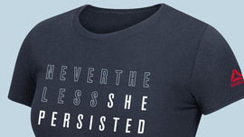 On Reebok's 'Nevertheless, She Persisted'