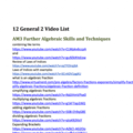 Year 12 HSC General 2 Maths Video List