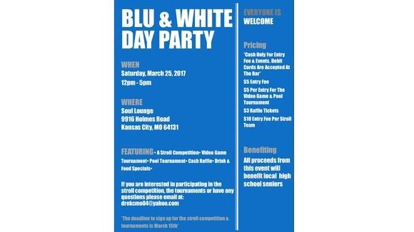 Blu & White Day Party