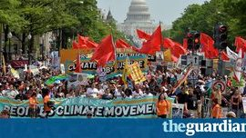 People's Climate March: thousands rally to denounce Trump's environmental agenda