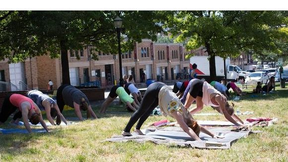 Yoga In City Market Park sponsored by Sundown Naturals