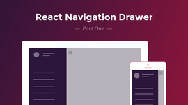 React Navigation Drawer Tutorial - Part 1
