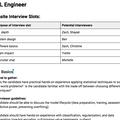 Onsite Interview LoopTemplate
