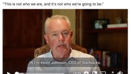 Facebook video of the Starbucks CEO response