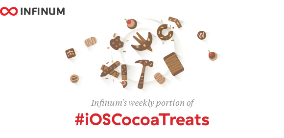 Logo for Infinum #iOSCocoaTreats - weekly dev newsletter