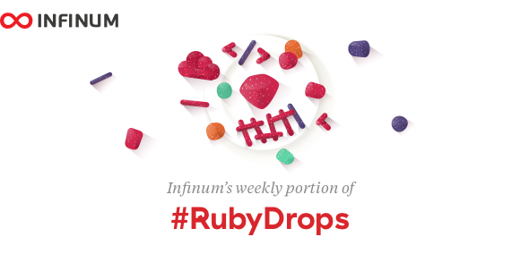 Logo for Infinum #RubyDrops - weekly dev newsletter