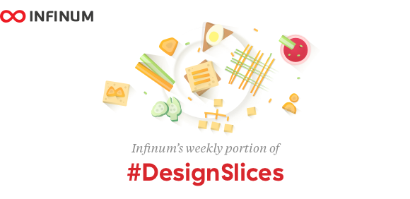 Logo for Infinum #DesignSlices - weekly design newsletter